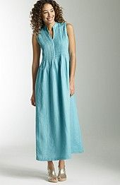 Pleated linen maxi dress, Jjill