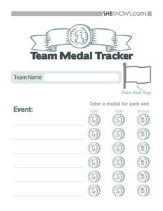 Olympics Team medal tracker - Free Printable Coloring Pages