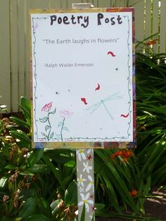 Poetry Post for the garden