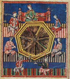 The game of astronomical tables, from Libro de los juegos [Castille]