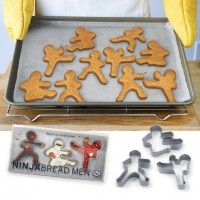 So excited, we are making these this weekend!!! Maybe make the cinnamon applesauce ornaments too. Love them! Ninja Bread Men Ginger Bread Cookie Cutters