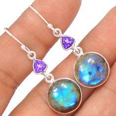 Labradorite 925 Sterling Silver Earrings Jewelry EE25646 | eBay