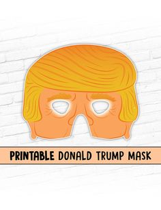 Donald Trump Printable Mask Halloween Mask by theRasilisk Trump Halloween, Halloween 2020, Birthday Party Themes, Birthday Wishes, Donald Trumph, Donald Trump Costume, Donald Trump Birthday, Election Night Party, Printable Halloween Masks