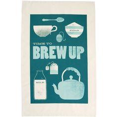 Brew Up - Tea Towel