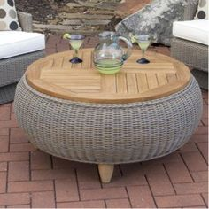 Belham Living Meridian All Weather Wicker Ottoman Table - There isn't a month on the calendar where you won't enjoy putting your feet up on the Belham Living Meridian All Weather Wicker Ottoman Table . A sturdy...