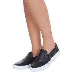 ADIDAS ORIGINALS - Tênis courtvantage slip on Adidas - preto - OQVestir