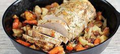 Vous avez un roti dans le frigo , Et bien voici une recette idéale pour vous, ce rôti est accompagné de légumes et c'est tout ce qu'on aime alors n'hésitez plus et lancez-vous dans la recette et régalez-vous  Ingrédients 1 rôti de Porc (1kg200) 300 gr de petits pois frais 2 courgettes en rondelles …