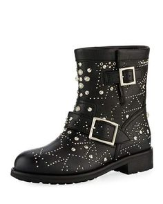 Get the must-have boots of this season! These Jimmy Choo Black Youth Star-studded Leather Moto Boots/Booties Size EU 39 (Approx. US Regular (M, B) are a top 10 member favorite on Tradesy. Biker Leather, Studded Leather, Leather Boots, Black Leather, Pebbled Leather, Black Biker Boots, Motorcycle Boots, Star Boots, Jimmy Choo Shoes