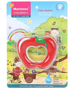 Morisons Baby Dreams Water Filled Toy Teether - Apple Shape http://www.firstcry.com/morisons-baby-dreams/morisons-baby-dreams-water-filled-toy-teether-apple-shape/369770/product-detail
