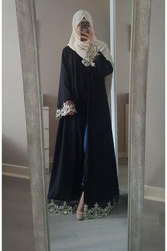 Abaya chic : Top 50 modèles tendance été 2017 - astuces hijab - Tesettür Şalvar Modelleri 2020 - Tesettür Modelleri ve Modası 2019 ve 2020 Abaya Style, Abaya Chic, Hijab Style Dress, Hijab Chic, Hijab Abaya, Muslim Women Fashion, Islamic Fashion, Niqab Fashion, Fashion Dresses