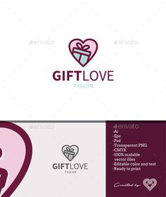 Gift Love — Photoshop PSD #colourful #care • Available here → https://graphicriver.net/item/gift-love/18410999?ref=pxcr
