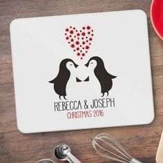 Christmas Personalised Penguin Placemats