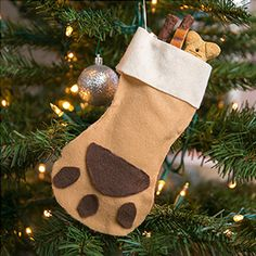 The treat stuffed ornament makes a great gift for dog lovers.