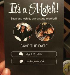 DIY wedding save the dates, Tinder success stories