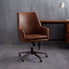 Exceptionnel West Elm Helvetica Desk Chair  Upholstered