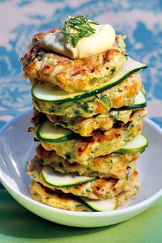 Chickpea Fritters - Oh my do they look good or what! Use chixpea flour instead of reg.