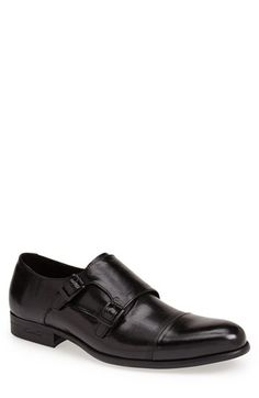 Kenneth Cole New York 'Tribal Chief' Double Monk Strap Shoe (Men) available at #Nordstrom Black size 10