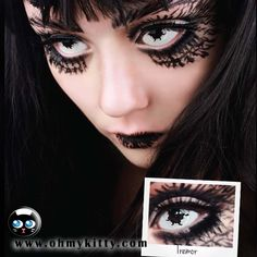 tremor contacts Get them at www.ohmykitty.com #cosplayers #ohmykittydotcom #contacts #circlelenses #popular #cosplay #eyes #makeup #halloween #costumes Halloween Contacts, Halloween Face Makeup, Horror Makeup, Circle Lenses, Werewolf, Cosplay, Eyes, Mini, Halloween Ideas