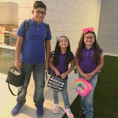 My babies started at Compass Academy today! So excited to pick them up and hear about how their day went at their new school! Gotta get used to the uniform look! Lol