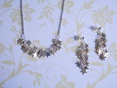 Set stars. Necklace and earrings. Silver. Bridal. by LilyandFern, €30.00
