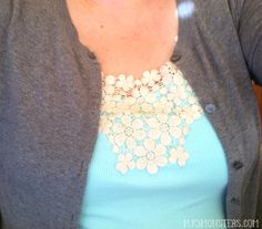 How to embellish a tank top with lace