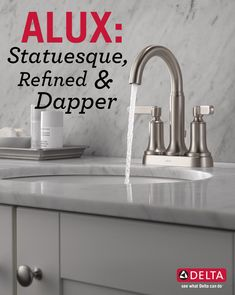 Give your bathroom an aristocratic polish with the dapper detailing of the Alux Collection.