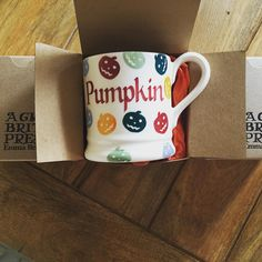 Personalised Polka Pumpkin Half Pint Mug