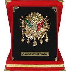 Ottoman Coat of Arms in Red Velvet Case