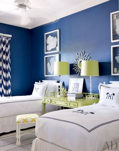 Whether navy, sapphire, or cobalt, these blue-hued spaces conjure an air of cool sophistication
