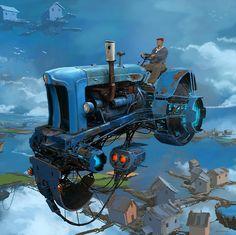 Steampunk Airship, Dieselpunk, Steampunk Illustration, Foto Picture, Casual Art, Ghost In The Machine, Cyberpunk City, Truck Art, Retro Futuristic