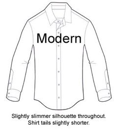 Fit Diagram of a Modern Men's Shirt.