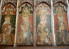 he rood screen at St Helens Church in Ranworth.