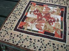 Fall Autumn Table Topper by atthebrightspot on Etsy, $25.00 Matches the placmats also pinned to this board.