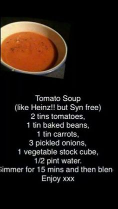 Slimming world tomato soup