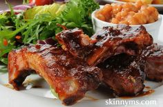Check out this Easy Baby Back Ribs recipe!! #skinnyms #recipes