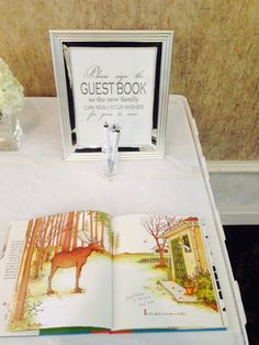 Creative guestbook (Mommy to Bee's favorite childhood book)
