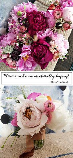 Flowers make me irrationally happy! Alexa Von Tobel #flowerpower #floweroflife #floralmagic #flowerphotography - Vicki Archer // http://vickiarcher.com/