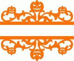 Silhouette Design Store - View Design #67469: split pumpkin damask