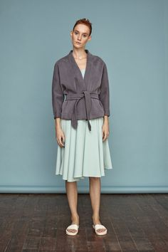 Silk neoprene judo coat from Dori Tomcsanyi. #doritomcsanyi #ss15 #collection #silk #neoprene