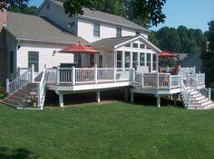 Backyard deck - no underpinning, clean look