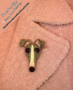 Italian Greyhound Pin Needle Felted Greyhound by SamsFurKids