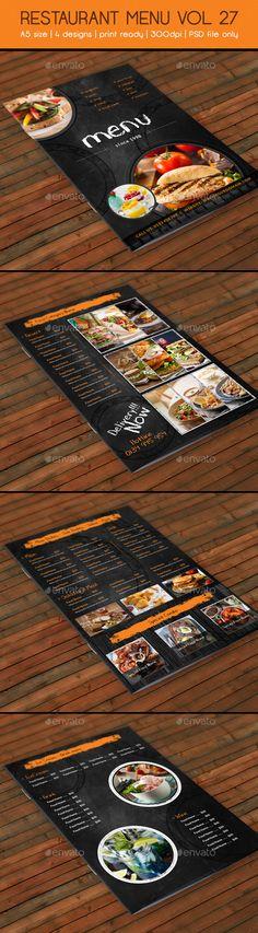 Restaurant Menu A4 Vol12 As and Restaurant