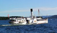 Skibladner the oldest Paddle Steamer in the world - on Lake Mjøsa, Norway ......Stay cheap and comfortable on your stopover in Oslo: www.airbnb.com/rooms/1036219?guests=2&s=ja99 and www.airbnb.no/rooms/5042144?guests=2&s=7_eh