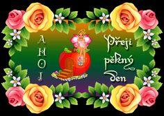 069 přání krásný den Heart Gif, Floral Wreath, Wreaths, Night, Decor, Google, Quotes, Quotations, Floral Crown
