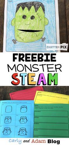Halloween Monster STEAM Freebie Writing Activity — Carly and Adam Halloween Activities, Holiday Activities, Stem Activities, Writing Activities, Activities For Kids, Science Writing, Halloween Kids, Classroom Freebies, Classroom Fun