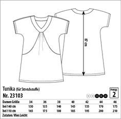 Tunika - 23103 - Stoff & Stil