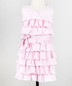 Look what I found on #zulily! Ballerina Pink Ribbon Candy Dress - Toddler & Girls by Down East Basics #zulilyfinds
