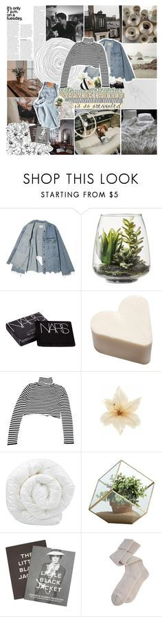 """""""comfortable silence is so overrated"""" by junglex ❤ liked on Polyvore featuring Prada, Threshold, NARS Cosmetics, Clips, Brinkhaus, Jet Lag, Danya B, Steidl and Brickell"""