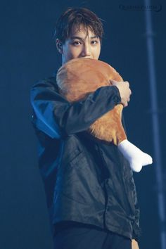 Kai and a chicken leg!
