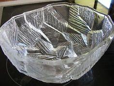 MID-CENTURY-RETRO-60s-SCANDINAVIAN-ART-GLASS-TEXTURED-ICE-BOWL